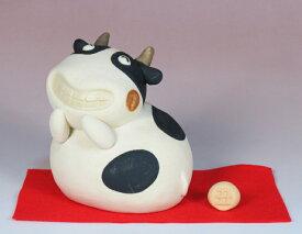 干支人形:いっひっひの丑と赤紙 /干支置物 /十二支 牛