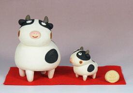 干支人形:親子丑と赤紙 /干支置物 /十二支 牛