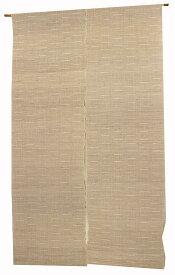 麻のれん・生成り 無地 9しぼ織り(手織り本麻暖簾) ●サイズオーダー可 のれん棒別売り