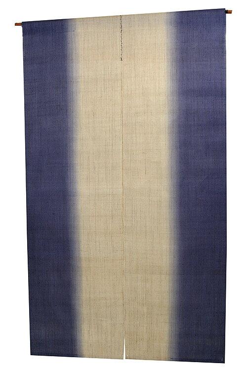 麻のれん のれん 暖簾 :縦染紺藍(手織り和風麻暖簾) ●サイズオーダー