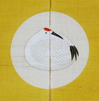 和風のれん・鶴亀長寿(お正月暖簾)