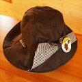 東和コーポレーションガーデニング用帽子WithGardenプレミアムシリーズ(ヒッコリー/ブラック)フリーサイズ2WAY
