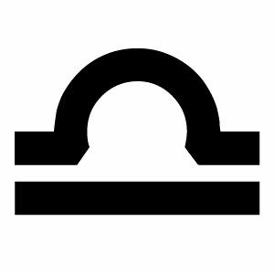 【カッティングステッカー てんびん座マーク(Libra) 選べる2サイズ】ハンドメイド 星座 星座ステッカー 車 ウインドウステッカー。