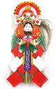 おかめ飾り・縦型【国産・日本製】【お正月飾り】【お正月リース】【お正月玄関】
