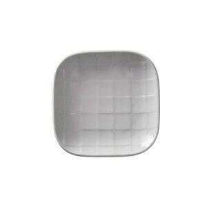 【栗原はるみ/洋食器/ギフト包装可】 市松角小皿 ホワイト | 栗原 はるみ 食器 皿 お皿 小皿 市松柄 市松模様 11cm 美濃焼 ゆとりの空間 白 刺身 しょうゆ皿 おひたし 取り皿 レンジ可 食洗機可