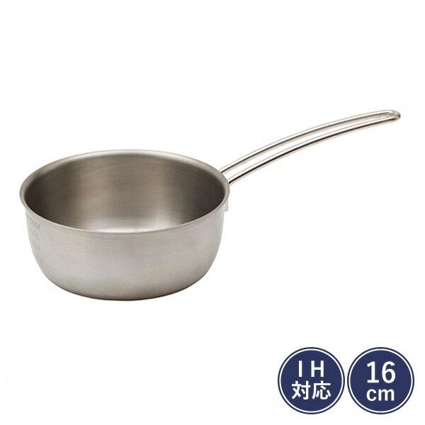 【ギフト包装可】IH対応 アルミクラッド雪平鍋 16cm/栗原はるみ