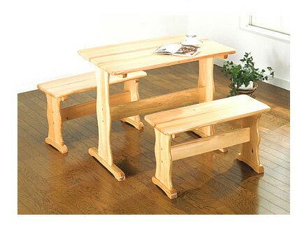 パインテーブル&ベンチセットカントリー調のお部屋にしませんか? SAN-008P/NA キッチンリビングテーブルダイニングセットチェア食卓テーブルセット椅子イス食卓セット天然木家具パイン天然木机つくえホワイトダーク