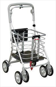【ランキング1位獲得】歩行補助車 アルミワゴンM 専用カバーなし バッグ スーツケース キャリーバッグハンドブレーキ付きのおしゃれなワゴン! No.132N ショッピングカート シルバーカート