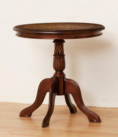 マルシェ テーブル象嵌細工の天板♪ 28566 テーブル アンティーク レトロ クラシック 円形