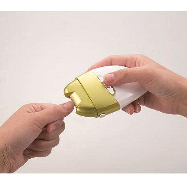 【ランキング1位獲得】電動爪削り リーフ【すぐ使えるクーポン進呈中】均一に滑らかな仕上がりに♪簡単に角質ケアも! El-50176 ネイル ネイルケアグッズ ネイルケアセット 爪やすり 角質ケア 電動 電動爪やすり 爪磨き 電動爪磨き 角質ケア かかとケア 角質ケア 電動