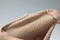 キャメル混のびふわ毛布シングル
