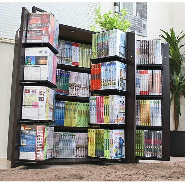 【すぐ使えるクーポン進呈中】【ランキング1位獲得】DVDで最大400収納 書棚ストッカーDVD400枚 CD340枚 コミック400冊!健康に良い低ホルマリン仕様です!日本製です FM70DBR FM70WH 本収納 コミック収納 書棚 本棚 オシャレ 大容量 扉付 ブラウン ホワイト 日本製 国産