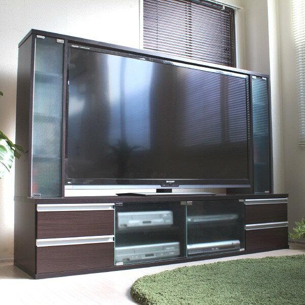 テレビ台 ゲート型 60インチ 大型テレビ対応テレビ周りをすっきり!日本製です JSTV-6038DBR JSTV-6038WH FLL-0024 テレビ台 収納 TV台 TVボード ハイタイプ ブラウン ホワイト 大型テレビ 大型