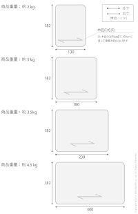 Fineファイン木目調防水ダイニングラグ300×182cm