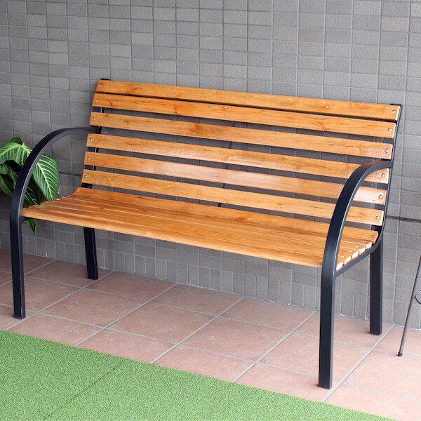 【300円OFFクーポン進呈中】ガーデンベンチ GJ-1A大人2人がゆっくり座れる広々したベンチ! 8719 ガーデンチェア 木製 イス チェア ベンチ スタッキング BBQ 背もたれ付 椅子 おしゃれ セット ガーデンベンチ 天然木