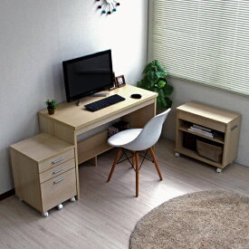 110cm幅 システムデスク3点セット デスク パソコンデスク省スペースな空間にも、大容量収納のデスクは使いやすくて大変便利。SD3-110-WH 机 学習机 デスク PCデスク PC台 つくえ コンパクト オーク 幅120
