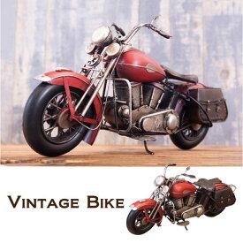 ビンテージカー レッドバイク0910E-1488 置物 ブリキ ヴィンテージ風 ディスプレイ レトロ調 レトロ雑貨