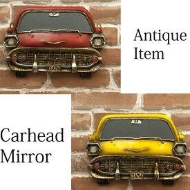 車のデザインがカッコ良い カーヘッドミラーZP2069 鏡 小物収納 壁掛け おしゃれ アメリカン雑貨