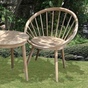 【ランキング1位獲得】チーク材の素敵なガーデンチェア 00439303 ガーデニング お洒落 庭 木製 チーク材 イングリッシュガーデン 椅子 いす チェア