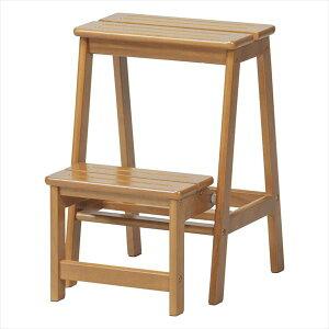 ステップチェア2段 木製踏み台 DIY・工具 はしご・作業台 踏み台STC2BR 踏み台 ステップ 腰掛 椅子 キッチン作業台