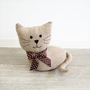 インテリア小物・置物 置物 ドアストッパー ブックエンド ぬいぐるみ 猫 1608STC004 人形 置物 オブジェ かわいい 贈り物