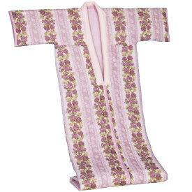 寝具 着る毛布 綿ガーゼ花柄かいまきFL-1615 かいまき 綿 花柄 着る布団 布団 冷え対策 冬布団 綿毛布 ピンク ブルー