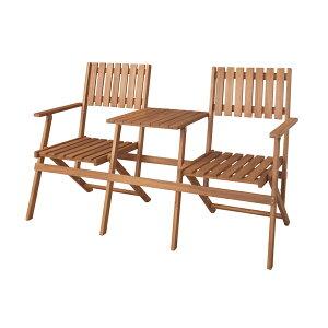 アウトドア 椅子・テーブル・レジャーシート 椅子・テーブルセット テーブル付きフォールディングベンチNX-931 折りたたみ チェア 二人掛け パラソル