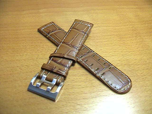 HAMILTON☆ハミルトン☆カーキETO用 交換時計バンド 牛革 時計ベルト 21mm (うす茶色) H600776108