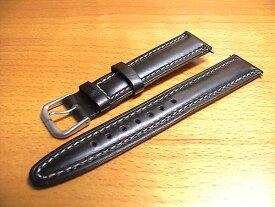 スイスミリタリー クラシック レザー 黒色 ブラック 18mm 時計バンド (腕時計)ベルト 18ミリ 牛革 カーフ 時計バンド 時計ベルト バネ棒 サービス 18mm 黒色 腕時計用 時計ベルト 時計用バンド