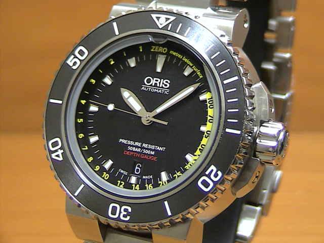 オリス 腕時計 ORIS Aquis Depth Gauge アクイス デプスゲージ 腕時計 73376754154M 【送料無料】【正規輸入品】