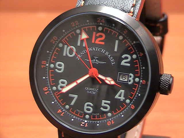 ZENO-WATCH ゼノウォッチバーゼル 腕時計 QUARTZ シリーズ B554Q-GMT-BK-A1優美堂のゼノウォッチ 腕時計はメーカー保証1年の正規商品です