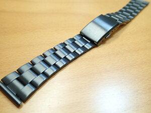 18mm 時計バンド(腕時計)ベルト18ミリ ブラックIP 加工 ステンレススチール ブレスレット メタル バンド ベルト 時計ベルト・バンド バネ棒 サービス付き 18mm