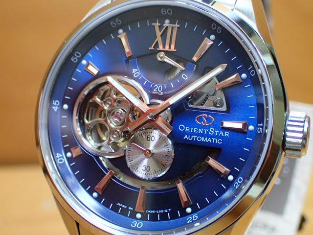 オリエントORIENT 腕時計 ORIENTSTAR オリエントスター プレステージショップ限定モデル セミスケルトン 機械式 自動巻き (手巻き付き) ブラウン WZ0221DK メンズ 革バンド(替えバンド)つき