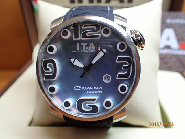 I.T.A アイティーエー 腕時計 カサノバ・ビーチ MOP エムオーピー 正規商品 Ref.19.02.07 生産終了 ある分だけ。
