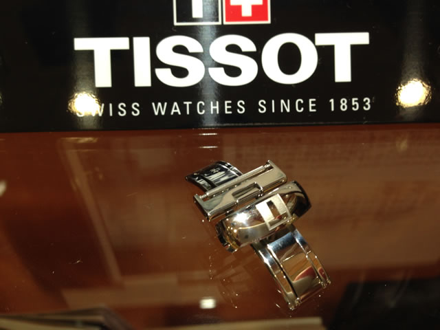 TISSOT☆ティソ☆純正 革バンド PRC200 T0554171605700,T0554171603700 など 用 バタフライバックル Dバックル 18ミリ 腕時計用 時計ベルト 時計用バンド T640015875