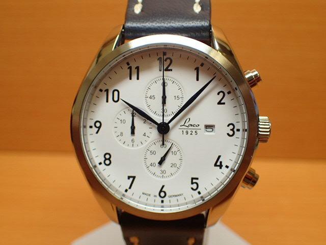 ラコ 腕時計 Laco 861789 SYLT ズィルト クロノグラフ クォーツ(電池式) 42mm優美堂のLaco ラコ腕時計はメーカー保証2年つきの正規販売店商品です。