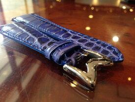 GaGa MILANO ガガミラノ 日本正規品 純正 時計バンド ベルト 48mm メンズ用 レザーベルト ブルー