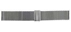 22mm時計バンド(腕時計)ベルト22ミリ メッシ ミラネーゼ ステンレススチール ブレスレット メタル バンド ベルト 時計ベルト・バンド バネ棒 サービス付き 22mm 【鏡面仕上げ(つやあり)】