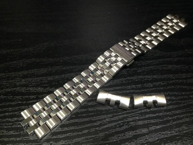 HAMILTON☆ハミルトン☆Spirit of Liberty Auto スピリット オブ リバティー オートクロノグラフ専用 メタルブレスレット 腕時計バンド ベルトメタルバンド H605324107