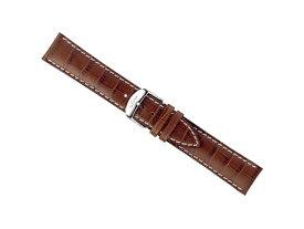 【SINN】 ジン 腕時計 Sinn 純正バンド ベルト カウレザー・ストラップ (型押し)SSマット・バックル & SSポリッシュ・バックル (20mm & 22mm) 腕時計用 時計ベルト 時計用バンド ライトブラウン(薄茶色)白ステッチ