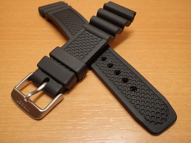 Traser トレーサー 腕時計 純正 ラバーストラップ バンド ベルト バネ棒つき BLACK ブラック【正規輸入品】22mm