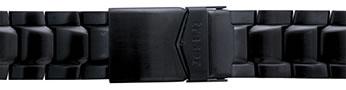 Traser トレーサー 腕時計 純正 P6504シリーズ用メタルブレスレット バンド ベルト バネ棒つき BLACK ブラック【正規輸入品】22mm