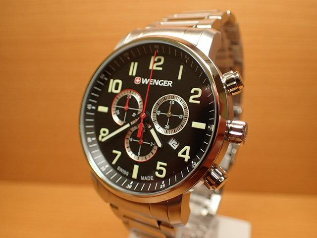 WENGER (ウェンガー) 腕時計 Attitude Chrono 01.1543.102 復活e優美堂のウェンガーは安心のメーカー保証3年付き日本正規商品です。