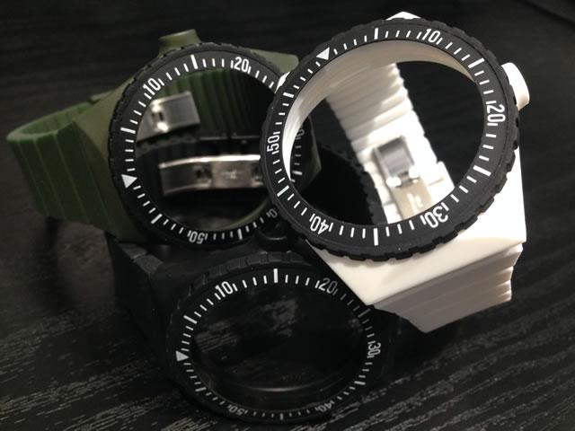 フォルティス 腕時計 FORTIS カラーズ COLORS 専用 交換用 シリコンストラップ 1本 3色よりお選びください