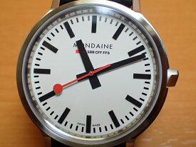 【あす楽】モンディーン 腕時計 ストップ・トゥ・ゴー Stop2go MST.4101B.LB 駅の時計すべてが同じ時刻を示すために、列車のより正確な運行を実現するために考えられた、世界で唯一の非常にユニークな機能です。