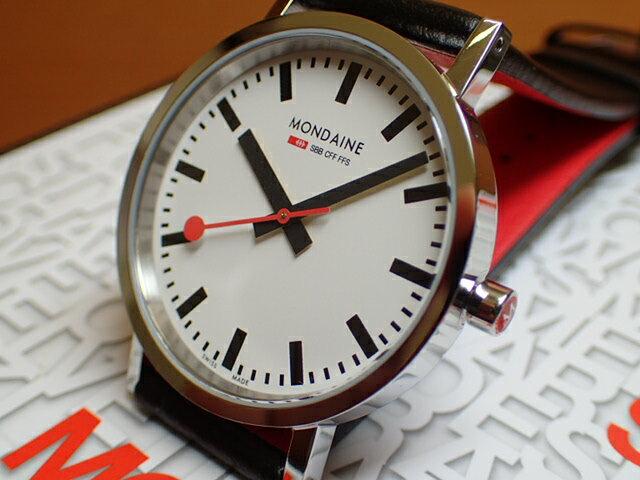 モンディーン 腕時計 ニュークラシック メンズ ホワイトダイアル ブラックレザー A660.30314.11SBB