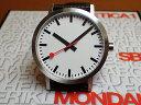 モンディーン 腕時計 クラシック ピュア 40mm メンズ ホワイトダイアル ブラックレザー A660.30360.16OM