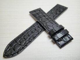 TISSOT☆ティソ☆ティソ バナナウォッチ用 純正時計 牛革 型押し 時計バンド ベルト 黒色 ブラック 20mm T610041813