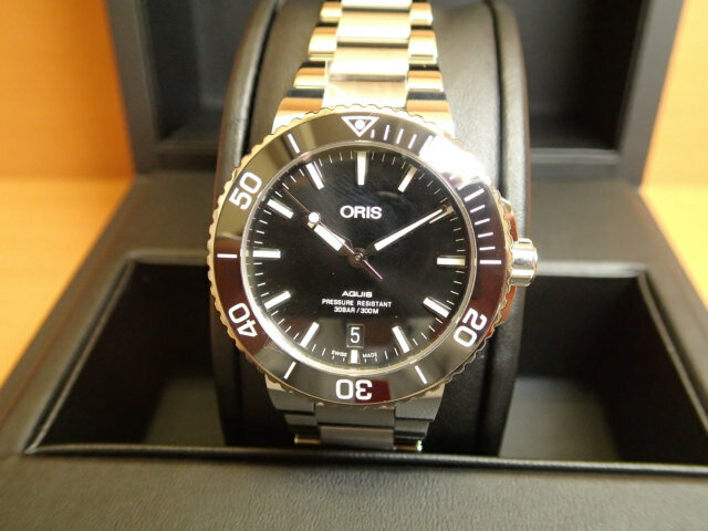 Oris Aquis オリス アクイス デイト 腕時計 73377324134M メタルブレスレット 40mm ボーイズサイズ 【送料無料】 【正規輸入品】