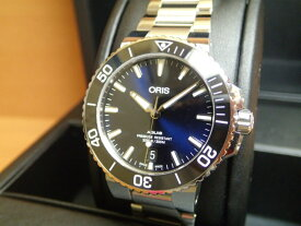 Oris Aquis オリス アクイス デイト 腕時計 73377324135M メタルブレスレット 40mm ボーイズサイズ 【送料無料】【正規輸入品】